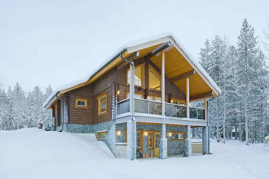 Деревянный дачный дом