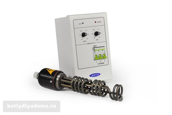 Электрические ТЭНы для твердотопливных котлов Зота