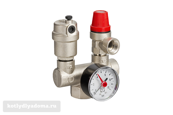 Группа безопасности «Valtec» VT 460 для систем отопления