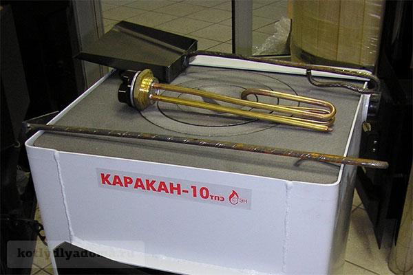 Комплектация напольного котла «Каракан» с варочной панелью