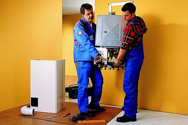Установка навесного газового котла в частном доме