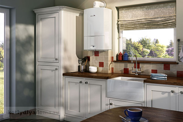 Монтаж газового котла на кухне частного дома