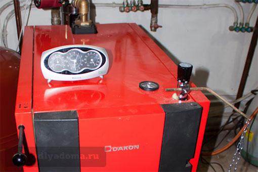 Обвязка отопительного котла Dakon DOR F в частном доме