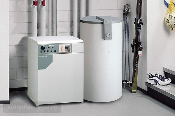 Монтаж одноконтурного напольного котла и водонагревателя