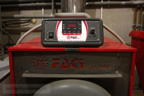 Пульт управления двухконтурным «Faci» котлом на пеллетах