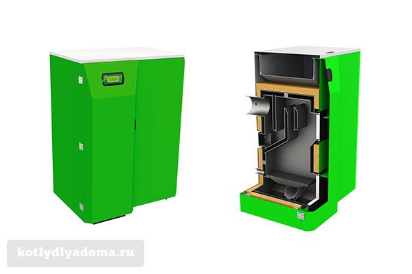 Котел отопления «Костржева Compact Bio» на пеллетном топливе