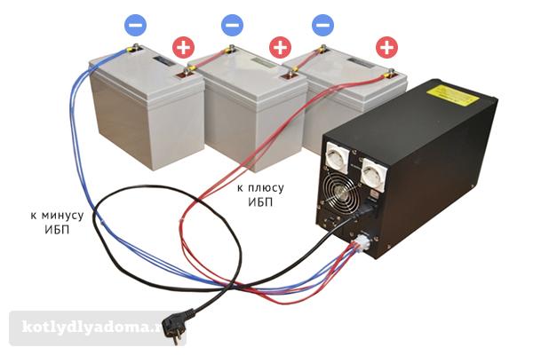 Схема правильного подключения аккумуляторов к ИБП