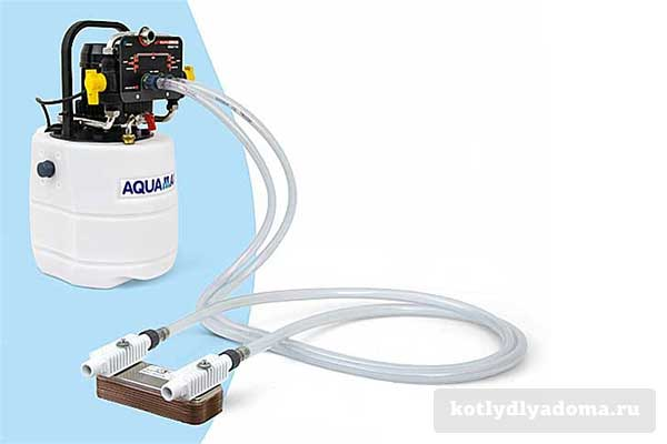 Промывка теплообменника оборудование качественные теплообменники в газовой колонке