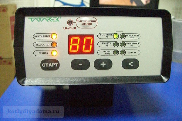 Электронный блок управления в газогенераторном котле «Мотор Сич»