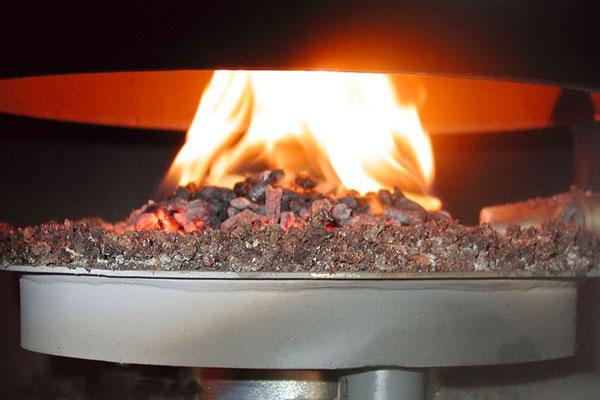 Принцип работы пеллетной горелки объемного типа