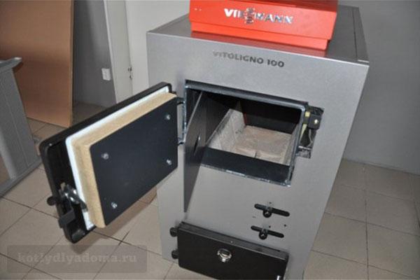Твердотопливный пиролизный котел отопления «Viessmann» Vitoligno 100 S