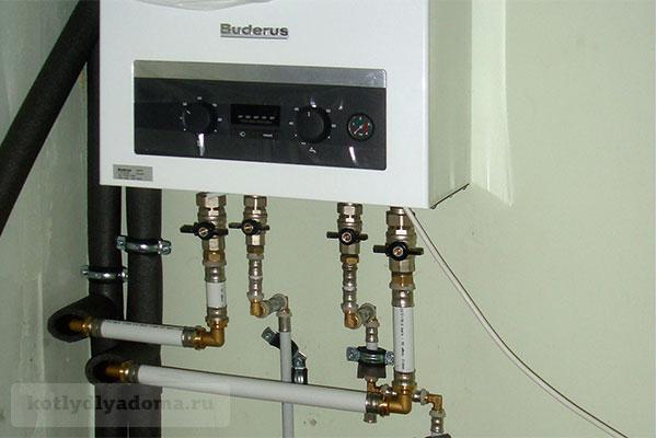 Монтаж настенного двухконтурного газового котла