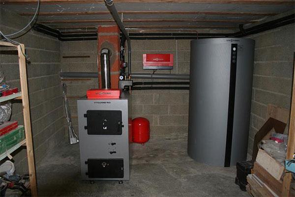 Установка и обвязка отопительного котла на дровах «Viessmann» Vitoligno 100 S