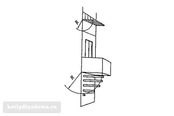 Особенности монтажа коаксиального дымохода под балконом
