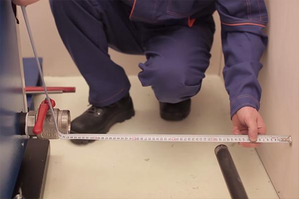 Монтаж котла на твердом топливе