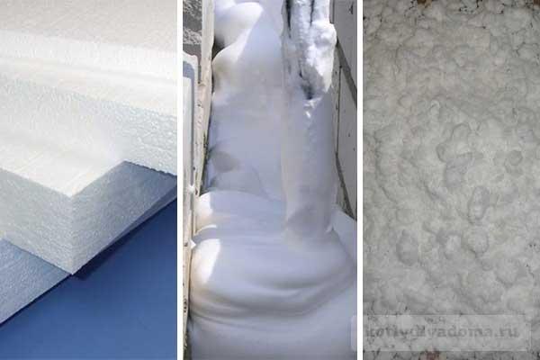 Три основных вида пеноизола для утепления стен и потолков