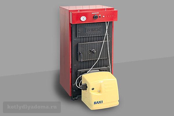 Чугунный котел отопления КЧМ-5 с газовой горелкой